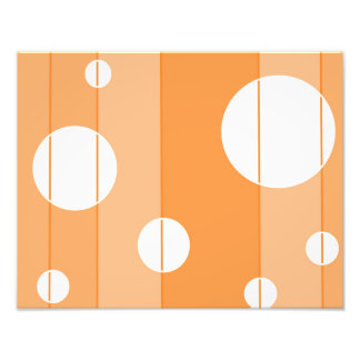 Dots and Stripes in Orange Photo Print