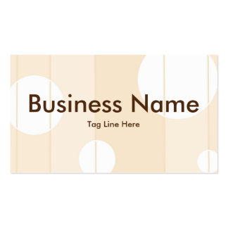 Dots and Stripes in Vanilla Business Cards