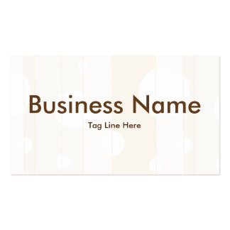 Dots and Stripes in Vanilla Business Card Templates