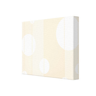 Dots and Stripes in Vanilla Gallery Wrapped Canvas
