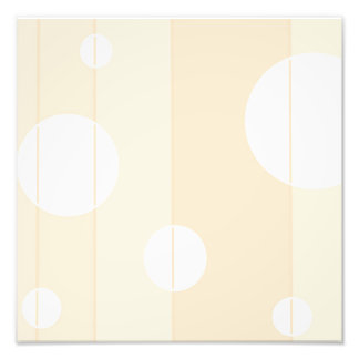 Dots and Stripes in Vanilla Photo Print