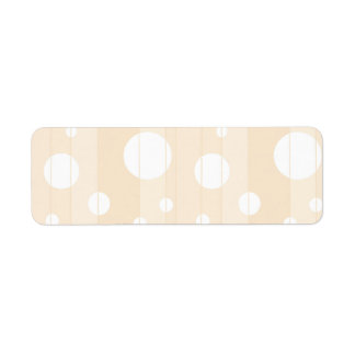 Dots and Stripes in Vanilla Return Address Label