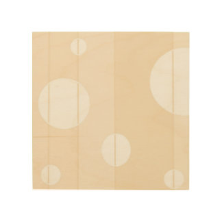 Dots and Stripes in Vanilla Wood Print