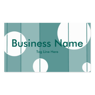 Dots and Stripes in WinterGreen Business Card Templates