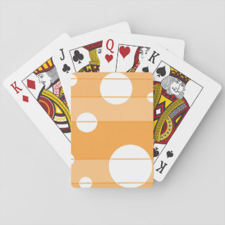 Dots and Stripes in YellowOrange Playing Cards