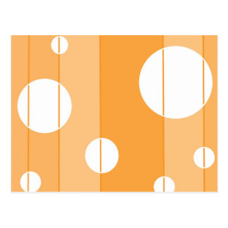 Dots and Stripes in YellowOrange Postcard