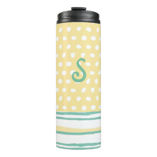 Dots and Stripes Monogrammed Thermal Tumbler