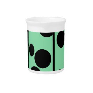 Dots and stripes pitcher
