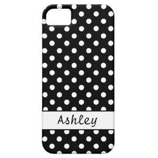 Dots Black and White Personalized Barely There iPhone 5 Case