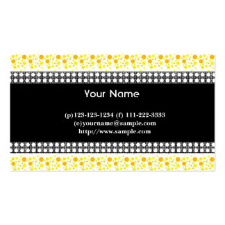 dots, black, white and yellow business card