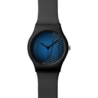 DOTS | blue dark white wave Wrist Watches
