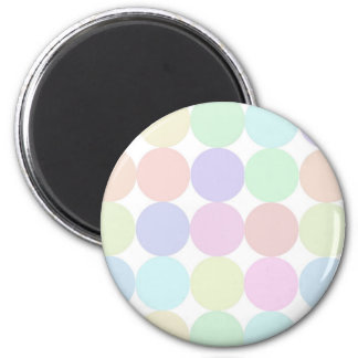 Dots colorful 6 cm round magnet