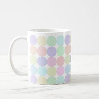 Dots colorful basic white mug