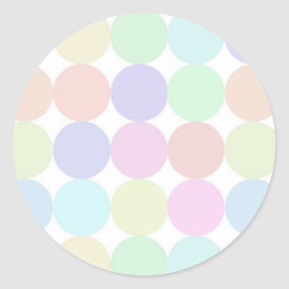Dots colorful classic round sticker