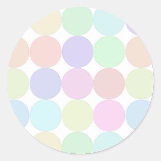 Dots colourful round sticker