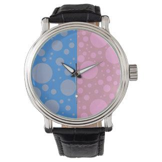 Dots Custom Black Vintage Leather Watch