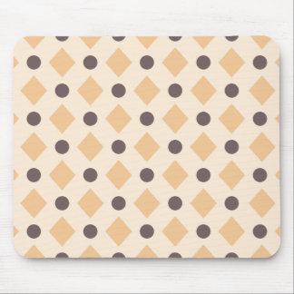 Dots & Diamond Pattern Blush Pink Mouse Pad