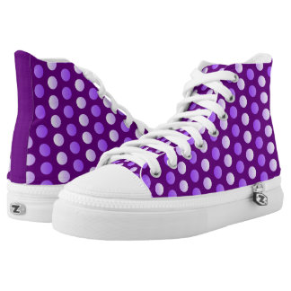 Dots, dots, dots, purple polka dots everywhere! high tops
