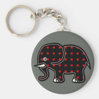 dots elephant key ring