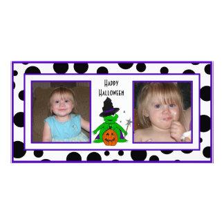Dots Halloween Wizard Photo Cards