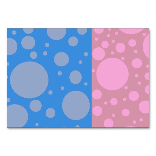 Dots Horizontal 8.9 cm x 12.7 cm Table Card Tablec