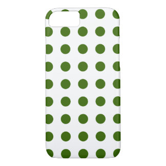 DOTS - OLIVE (a polka dot design) ~ iPhone 7 Case