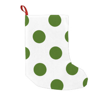 DOTS - OLIVE (a polka dot design) ~ Small Christmas Stocking