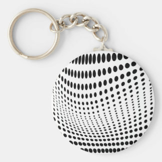 Dots Optical Illusion Keychain