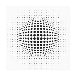 dots - optical illusion stretched canvas prints