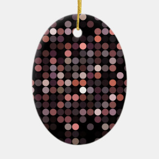 dots pattern abstract background ceramic oval decoration