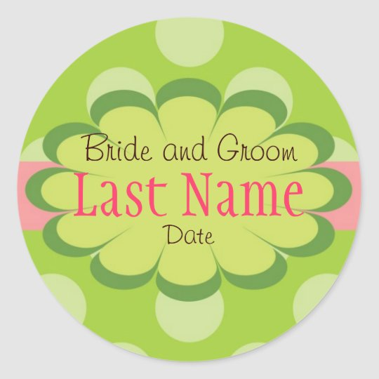 Dots Personalzied Wedding Stickers