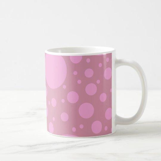 Dots Pink Blue White 325 ml  Classic White Mug