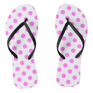 DOTS - PINK.png Flip Flops