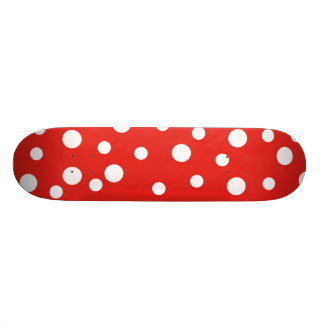 Dots - Red and White 21.6 Cm Old School Skateboard Deck