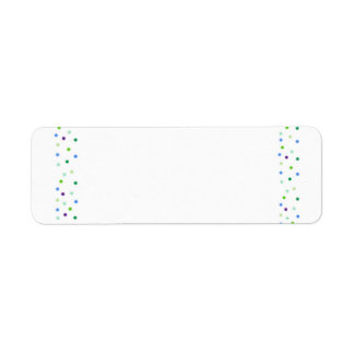 Dots Return Address Label