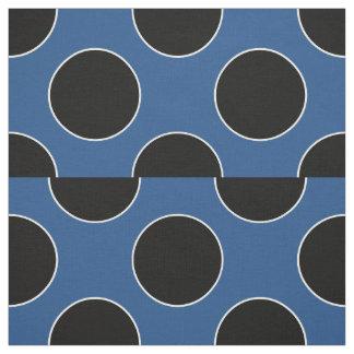 Dots seamless pattern black & contour fabric