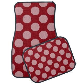 Dots seamless pattern white transp. + your backgr. car mat