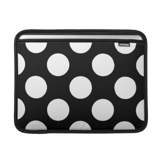 Dots, Spots, Polka Dotted Pattern - White Black Sleeves For MacBook Air