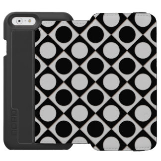 Dots & Squares / black white + your ideas Incipio Watson™ iPhone 6 Wallet Case