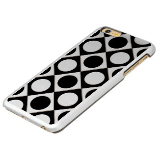 Dots & Squares / black white + your ideas iPhone 6 Plus Case