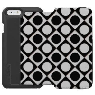 Dots & Squares / black white + your ideas Incipio Watson™ iPhone 6 Wallet Case