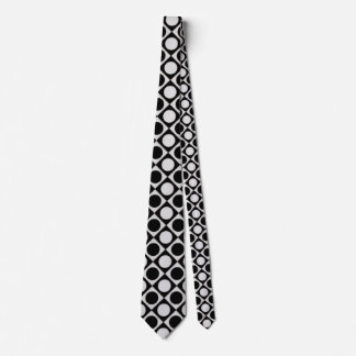 Dots & Squares / black white + your ideas Tie