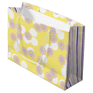 Dots & Stripes Yellow & Purple Gift Bag