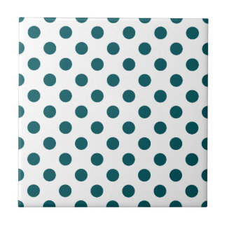 DOTS - TEAL (a polka dot design) ~ Tile