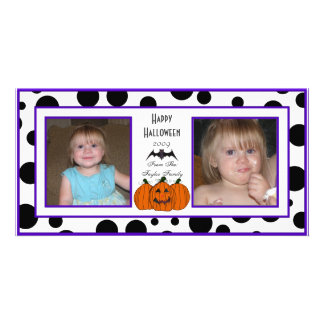 Dots Trick or treat Photo Cards