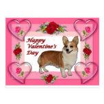 Dott Hearts & Roses Valentine's Card Postcard