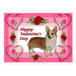 Dott Hearts & Roses Valentine's Card Postcards