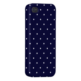 Dotted Case navy iPhone 4 Case