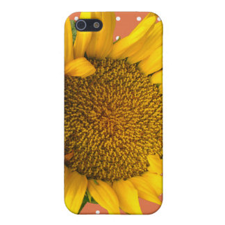 Dotted Case with Sunflower iPhone 5 Cover