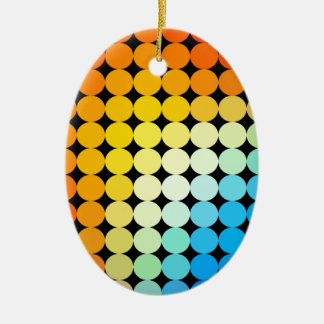 Dotted colorful background ceramic oval decoration